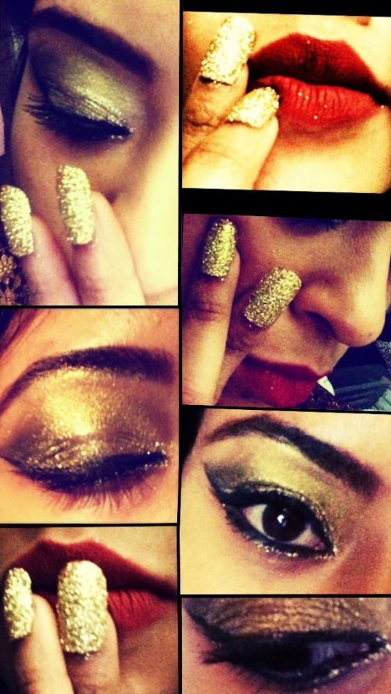 Sparkle/glitter eyes and nails
